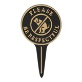 Please Be Respectful Dog Courtesy Lawn Stake American Made