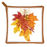 Autumn Leaves Potholder Made in USA -  Set of 2