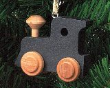 Maple Landmark Black Engine Ornament
