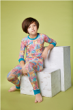 Bedhead Pajamas Multi Wonders of the World Stretch Tweens' L/S 2pc PJ American Made