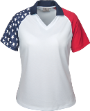 Ladies Patriotic Polo Shirt American Made