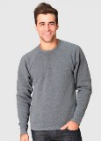 Unisex Triblend Raglan Crew Sweatshirt Made in America