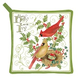 Holly and Ivy Potholder - Made in USA - Set of 2