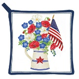 Old Glory Potholder Made in USA -  Set of 2
