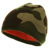 Reversible Camo Beanie Made in USA - Desert Camo