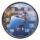 12.5-inch Loon Indoor/Outdoor Thermometer American Made