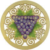 Solace Trivet American Made, Printed Grapes