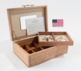 American Rustic Solid Mahagony Jewel Box with Lift-Out Tray