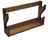 2 Gun Rack Solid Wood Made in USA