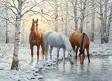 Winter Trio 1000 piece Puzzle Made in America