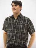 Daccord Multi Banded Bottom Shirt Made in USA - Tan/Black