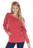 ECO Triblend Fleece Raglan w/Pouch Pocket Made in America