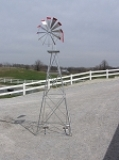 Aluminum Decorative Windmill Made in USA 10 ft.