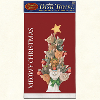 MEOWY CHRISTMAS Dish Towel American Made