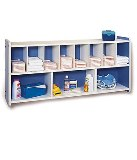 Round-Edge Diaper Supply Wall Unit American Made