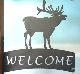 North Country Elk Welcome Sign Hanger American Made