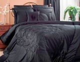 Victor Mills Medallion Black Comforter Set Made in USA