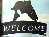 North Country Fish Welcome Sign Hanger Made in USA