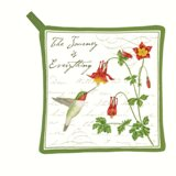 Hummingbird Potholder Made in USA -  Set of 2