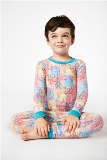 Multi Wonders of the World Stretch Kids PJ American Made