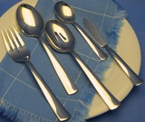 5 Pc Serving Set Modern America Flatware Made in USA