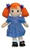Adorable Kinders Rena Rag Doll Made in America Made by Granza