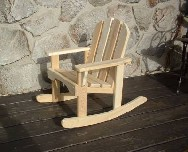 Toddler's American Made Adirondack Rocker