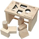 Maple landmark Shape Sorter Mini Bench Made in America