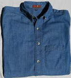 Chambray Work Shirt Long Sleeves Made in USA