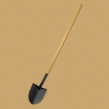 Bully Tools Round Point Long Handled USA Made Shovel