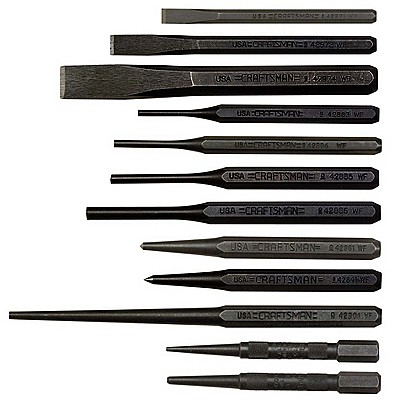Craftsman 12 pc. Chisel/Alignment Set  Made in USA