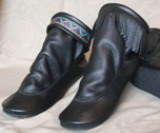 Footskins Teepee Boots with Rubber Soles-Black - Made in America