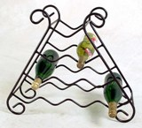 10 Bottle Wrought Iron Wine Rack - Made in America