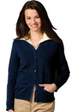 Women's V-Neck Cardigan Sweater American Made
