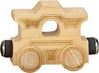 Maple Landmark Natural Cars - Caboose Made in USA