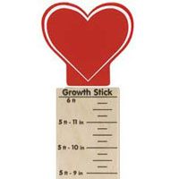 Maple Landmark Growth Sticks - Heart - Made in America