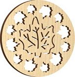 Maple Landmark Ornament - Natural - Maple Leaves