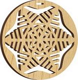 Maple Landmark Ornament - Natural - Snowflake