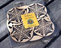 Maple Landkmark 5 Pc. Trivet and Coasters Gift Set - Natural  Snowflake  American Made