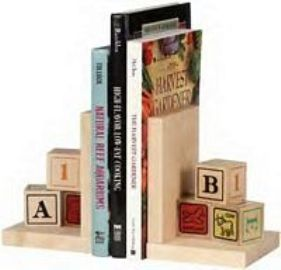 Maple Landmark - Alphablock Bookends - American Made