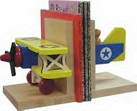 Maple Landmark Biplane Bookends American Made