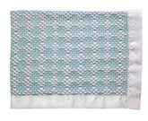 Bleach White/Blue Two-Tone Diamond Weave