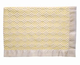 Bleach White/Yellow Cotton Two-Tone Diamond Weave