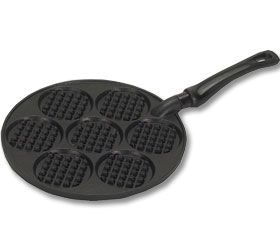 Silver Dollar Waffle Griddle - Cast - American Made